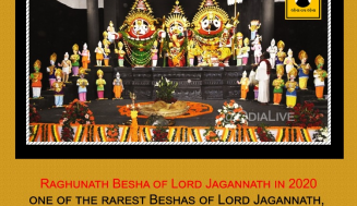 Raghunath Besha of Lord Jagannath in 2020