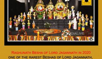 Raghunath Besha of Lord Jagannath in 2020